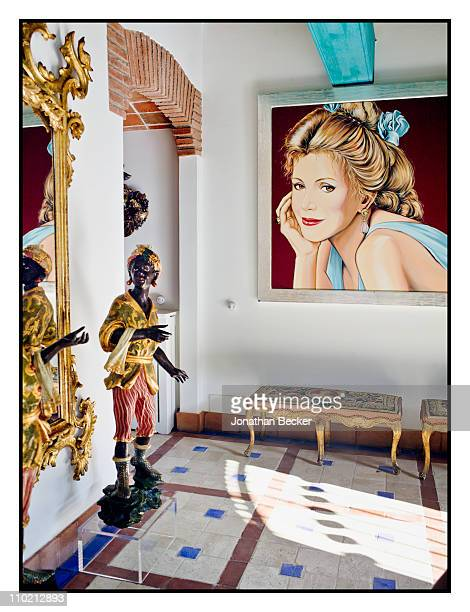Baroness Carmen von Thyssen's home is photographed for Vanity Fair Spain on August 24 2010 in Sant Feliu Spain Published image