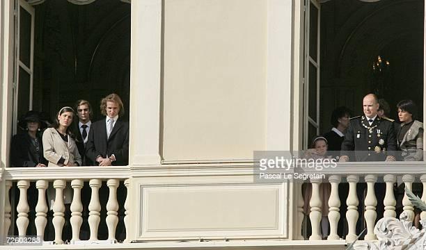 Baroness ElisabethAnne de Massy and Charlotte Pierre Andrea Casiraghi Princess Alexandra of Hanover Prince Albert II of Monaco and Princess Stephanie...