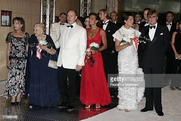 Baroness ElisabethAnne de Massy Princess Antoinette Baroness of Massy Prince Albert II Princess Stephanie Princess Caroline of Monaco and husband...