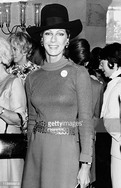 Baroness Fiona Thyssen, the former model Fiona Campbell Walter, attending the Women of the Year lunch at the Savoy Hotel, London on 5th October 1970....