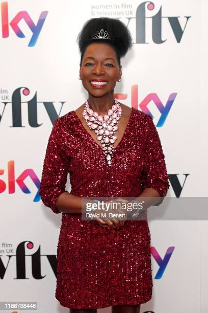 Baroness Floella Benjamin OBE attends the Women in Film and TV Awards 2019 at Hilton Park Lane on December 06 2019 in London England