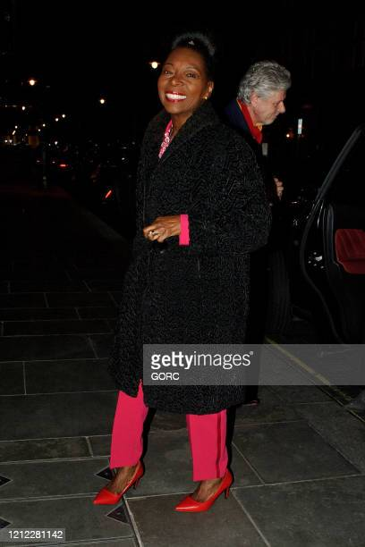 Baroness Floella Benjeman seen arriving at Scott's restaurant in Mayfair on March 13 2020 in London England