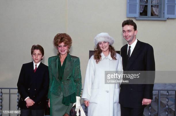 Baroness Francesca von Thyssen Bornemisza with her husband Karl von Habsburg Lothringen at Lugano, Switzerland 1994.