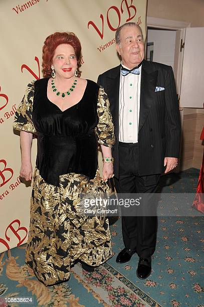 Baroness Gabrielle Von Langendorff and guest attend the 56th annual Viennese Opera Ball at The Waldorf=Astoria on February 4 2011 in New York City