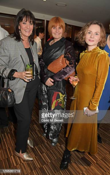 Baroness Gail Rebuck Mary Portas and Domino Pateman attend the WOW Foundation x Bloomberg reception at Southbank Centre on March 5 2020 in London...