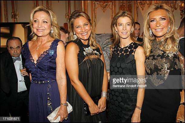 Baroness Gerard of Waldner, Madame Olivier Dassault , Madame Brice Hortefeux , Nicole Weinberg at Dinner At Hotel Dassault In Benefit Of Association...