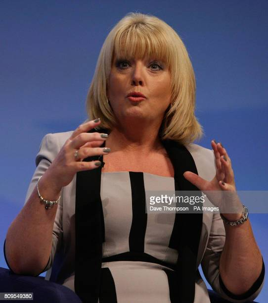 Baroness Helen Newlove addresses the Conservative Party Conference at Manchester Central Manchester
