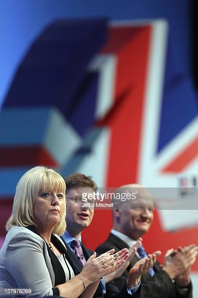 Baroness Helen Newlove takes part in a question and answer session during the Conservative Party Conference at Manchester Central on October 4 2011...