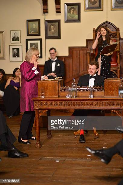 Baroness Mallalieu debating ''This house is not what it used to be'' during the bicentenary debate at The Cambridge Union on February 7 2015 in...
