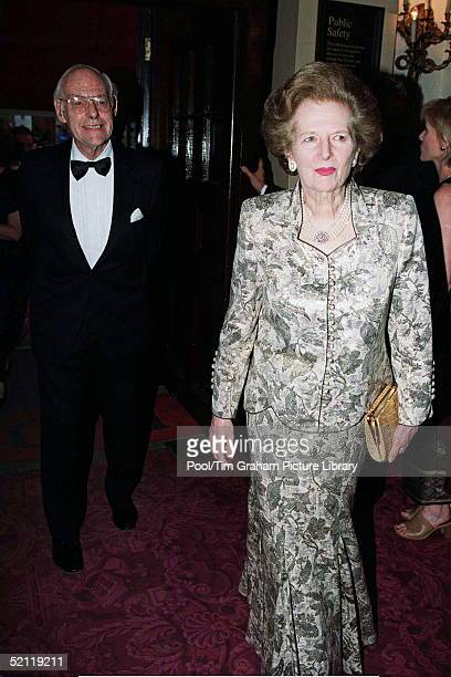 Baroness Margaret Thatcher And Husband Denis Attending A Special Gala Performance To Mark The Closure Of The Royal Opera House For Redevelopment