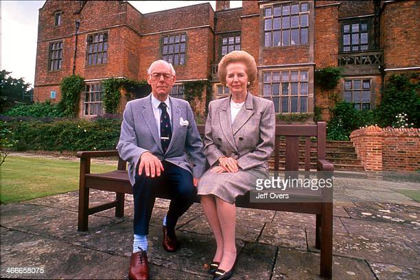 Baroness Margaret Thatcher and husband Sir Denis GB politician former Con Conservative MP for Finchley 195992 Conservative PM Prime Minister 197990