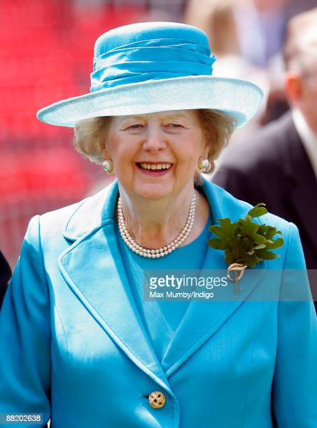 Baroness Margaret Thatcher attends the annual Founders Day Parade at Royal Hospital Chelsea on June 4, 2009 in London, England.