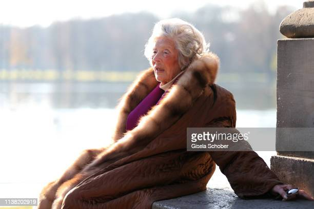 Baroness Marianne zu SaynWittgensteinSayn known as photographer Mamarazza poses during a photo shooting before her 99th birthday on Dezember 9 at...