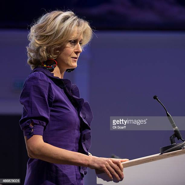 Baroness Martha LaneFox addresses an audience during the launch of the 'Year of Code' campaign at the Royal Society of Arts on February 4 2014 in...