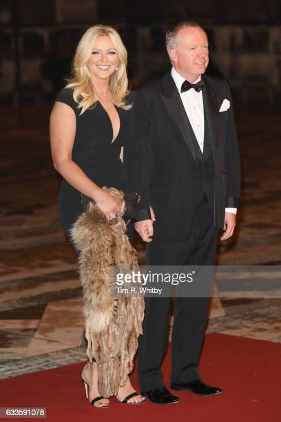 Baroness Michelle Mone and Douglas Barrowman attend a reception and dinner for supporters of The British Asian Trust on February 2 2017 in London...