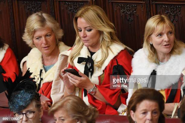 Baroness Mone arrives in the House of Lords before the State Opening Of Parliament at Houses of Parliament on June 21 2017 in London England This...