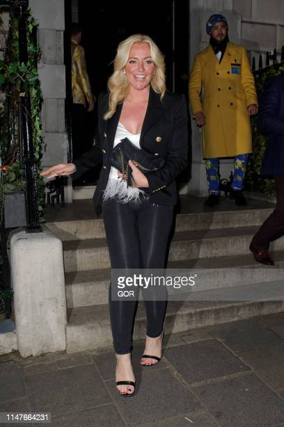 Baroness Mone OBE aka Michelle Mone seen leaving Annabels private club in Mayfair on May 07 2019 in London England