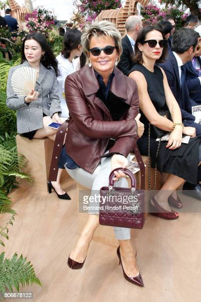 Baroness Myriam Ullens de Schooten attends the Christian Dior Haute Couture Fall/Winter 20172018 show as part of Haute Couture Paris Fashion Week on...