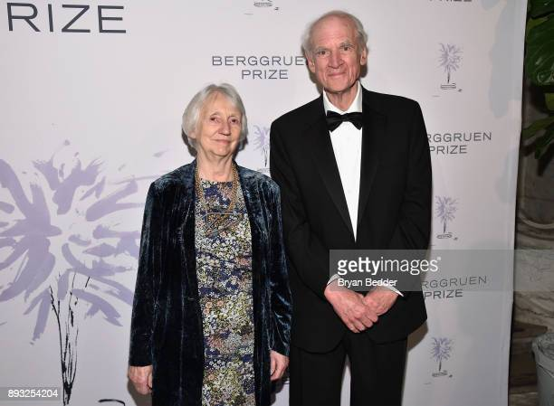 Baroness Onora O'Neil and Charles Taylor attend the Berggruen Prize Gala at the New York Public Library on December 14 2017 in New York City