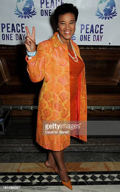 Baroness Patricia Scotland attends the annual Peace One Day concert at the Peace Palace on September 21 2013 in The Hague Netherlands