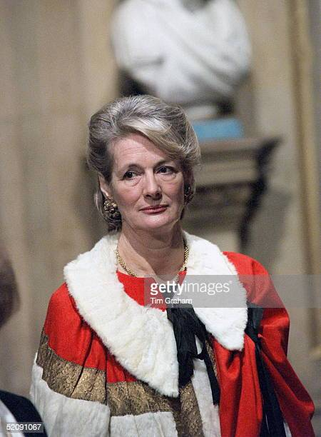Baroness Peggy Jay At The State Opening Of Parliament London