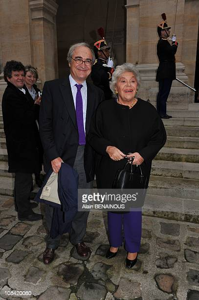 Baroness Philippine de Rothschild and her husband JeanPierre de Beaumarchais in Paris France on March 12th 2009