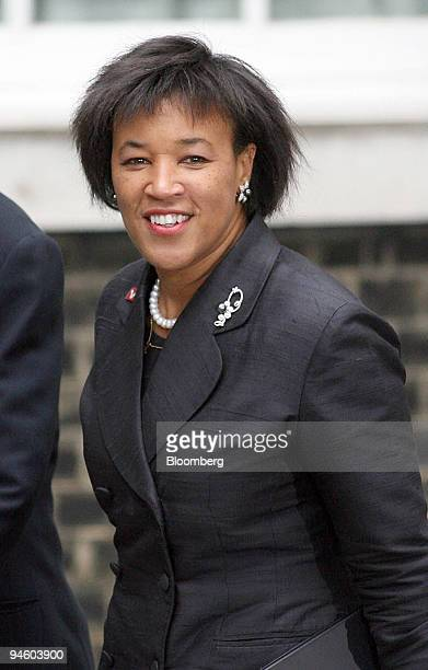 Baroness Scotland the Attorney General arrives at 10 Downing Street in London UK on Thursday June 28 2007 Prime Minister Gordon Brown aiming to...