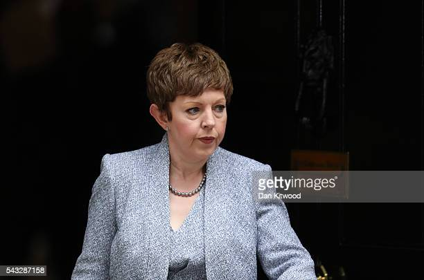 Baroness Stowell of Beeston Lord Privy Seal Leader of the House of Lords leaves Downing Street following a cabinet meeting on June 27 2016 in London...
