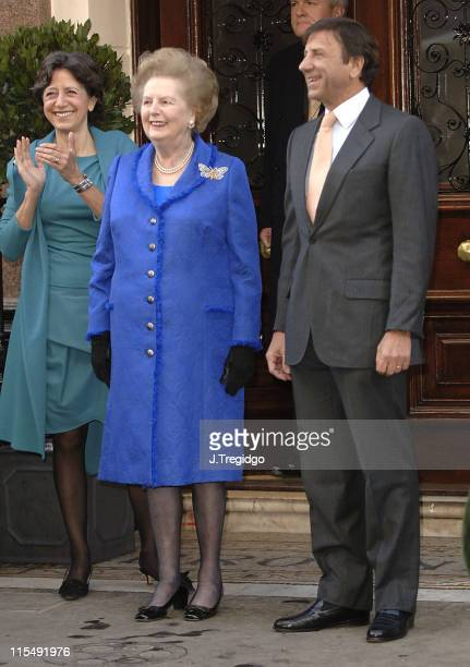 Baroness Thatcher and Rocco Forte during ReOpening of Brown's Hotel in London December 12 2005 at Brown's Hotel in London Great Britain