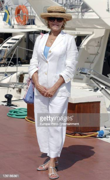 Baroness ThyssenBornemisza Carmen Cervera is sighted at Puerto Banus on September 23 2011 in Marbella Spain