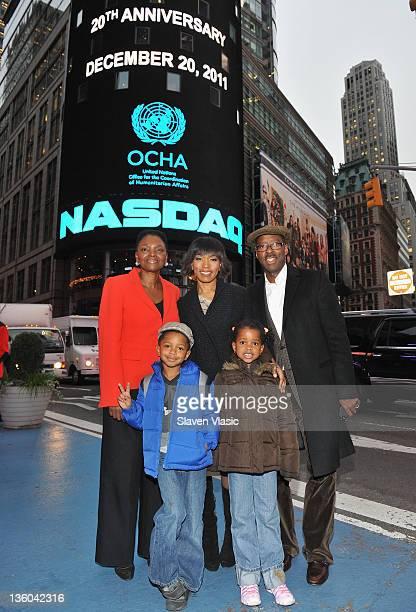 Baroness Valerie Amos UN Undersecretary General for Humanitarian Affairs actress Angela Bassett husband Courtney B Vance children Bronwyn Golden...