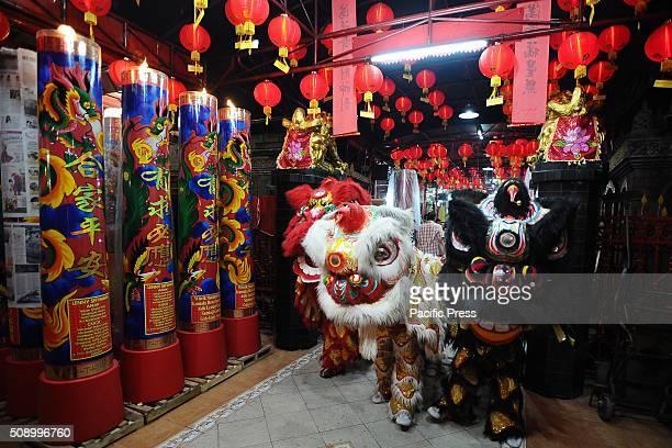 Barongsai dancers perform during Chinese New Year celebrations at Hong San Ko Tee Temple The Chinese New Year known as the Spring festival or the...