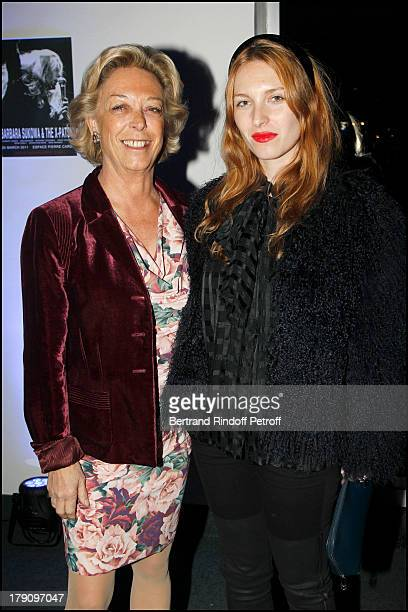 Baronne Anne De Labaume and daughter Josephine De La Baume at The 20th Anniversary Party For The Thaddaeus Ropac Gallery In Paris Concert Held At...