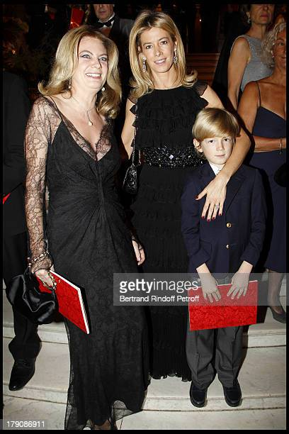 Baronne Arielle De Rothschild Madame Brice Hortefeux and child Amaury at The Gala Evening Celebrating The 35th Anniversary Of L'Arop At L'Opera...