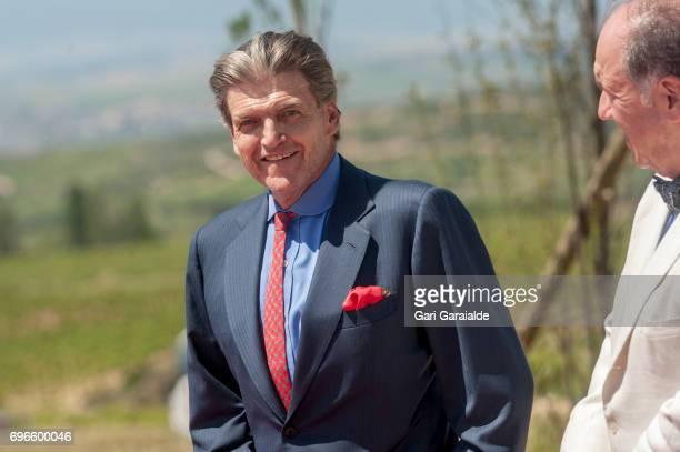 Baronne Benjamin de Rothschild and Pablo Alvarez Mezquiriz attend Macan Winery inauguration on June 16 2017 in Alava Spain