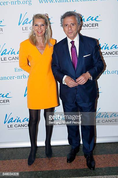 Baronness Eva Ameil and Michel Oks attend 'Vaincre Le Cancer' Charity Gala Night at Opera Garnier on July 10 2016 in Paris France