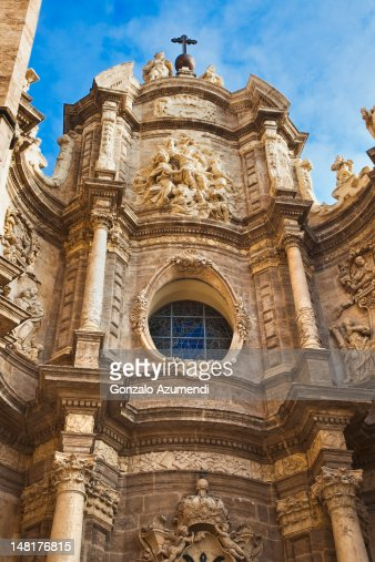 baroque architecture in spain stock photo