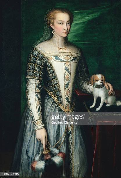 Baroque European Portrait of a Woman and Her Dog