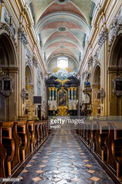 Baroque interior of the St. Stanislaus Church at Skałka, Krakow, Poland