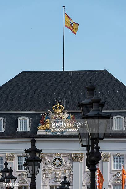 Baroque old Town Hall at the Marktplatz, a square originated in the 11th century, in Bonn, Germany, 09 September 2014. Bonn, that offers many...
