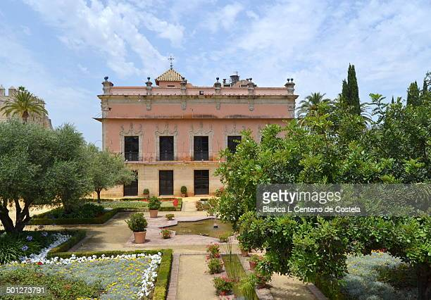 Baroque Palace of Villavicencio built on the ruins of earlyIslamic palace in the eighteenth century on the grounds of the Real Alcazar of Jerez. The...