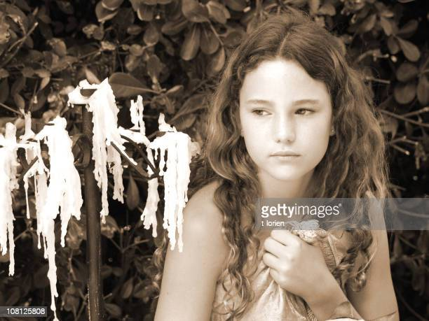 baroque portrait in sepia - forever young stock pictures, royalty-free photos & images