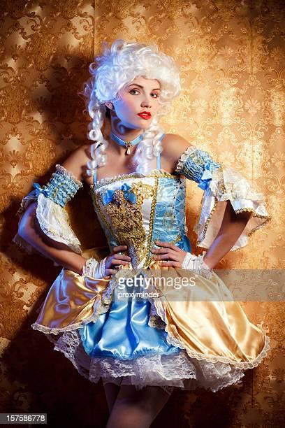 Retrato de mujer de estilo barroco