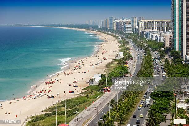 バーハダチジュッカビーチでリオデジャネイロ - バーラ地区 ストックフォトと画像