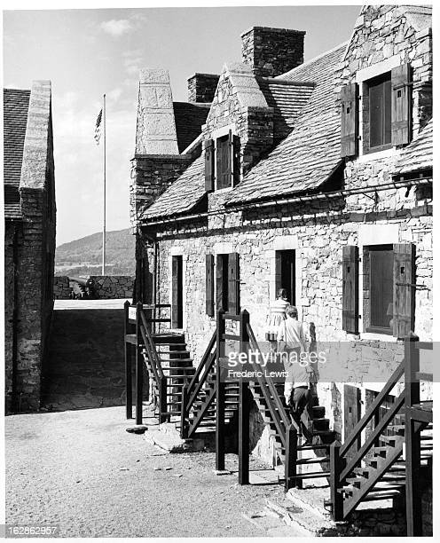 Barracks at Fort Ticonderoga New York 1955