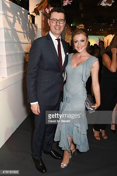 Barratt West Tiffany Co VP and Managing Director UK and Ireland and Camilla Kerslake attend the Tiffany Co immersive exhibition 'Fifth 57th' at The...