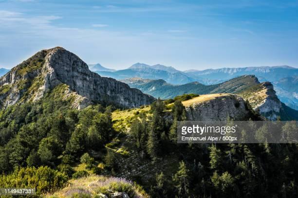 barre des dourbes - alpes de haute provence stock photos and pictures