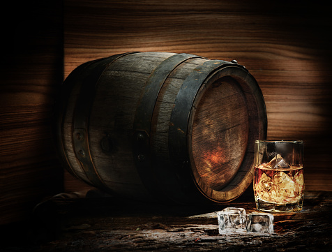 Barrel and whiskey - gettyimageskorea