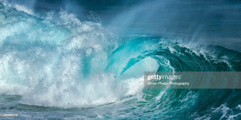Barrel in the surf : Stock Photo