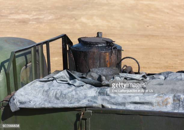Barrel of a North Korean truck running on gasified wood South Pyongan Province Chongsanri Cooperative Farm North Korea on September 12 2011 in...